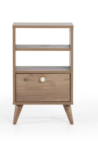 Asimex Living - Vega Shelf Nightstand- Oak